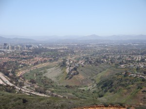 A view from Mt. Soledad looking east over the Rose Canyon Open Space Park and the Golden Triangle. Photo by The Chaparral Lands Conservancy.