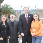 San Diego City Councilmember Lorie Zapf, Campland on the Bay President Michael Gelfand, San Diego City Councilmember Kevin Faulconer, and Friends of Rose Creek Founder Karin Zirk.
