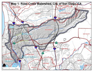 Where is the Rose Creek Watershed?
