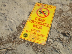 Mission Beach is closed when waters are contaminated. Photo: San Diego Earthworks