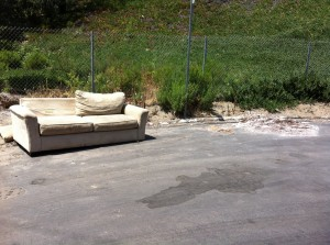 Our project can help ride the Rose Creek Corridor of illegal dumps such as this one at the end of Santa Fe Street